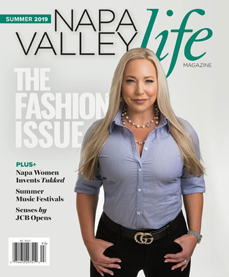 Tukked Shirts on the front cover of Napa Valley Life Magazine