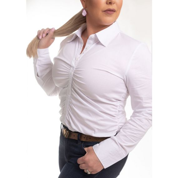 TU-1002  Classic Ruched Long Sleeve